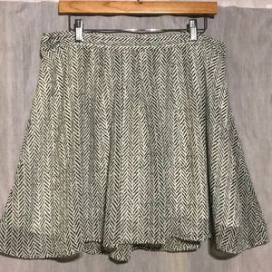 Old Navy green and white skirt